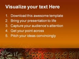Happy New Year 2011 Festival PowerPoint Background And Template 1210  Presentation Themes and Graphics Slide02