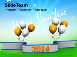 Happy New Year 2014 Business PowerPoint Templates PPT Backgrounds For Slides 1113