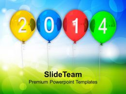 Happy New Year 2014 PowerPoint Templates PPT Backgrounds For Slides 1113
