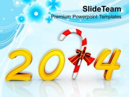 Happy New Year And Candy Cane PowerPoint Templates PPT Backgrounds For Slides 1113