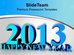 Happy New Year Celebration Holidays Concept PowerPoint Templates PPT Themes And Graphics