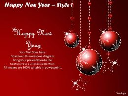 Happy New Year Style 1 Powerpoint Slides