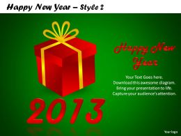 Happy New Year Style 2 Powerpoint Slides