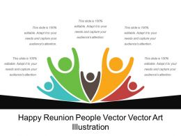 Happy Reunion People Vector Vector Art Illustration