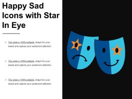 Happy Sad Icons With Star In Eye