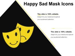 Happy Sad Mask Icons