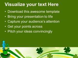 Happy St Patricks Day Green Hat Celebration Templates Ppt Backgrounds For Slides