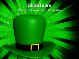 happy_st_patricks_day_green_hat_of_templates_ppt_backgrounds_for_slides_Slide01