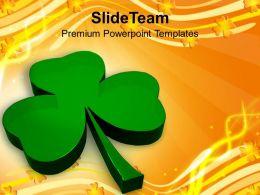 happy_st_patricks_day_illustration_of_glossy_clover_holiday_templates_ppt_backgrounds_for_slides_Slide01