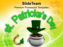 Happy St Patricks Day Lucky Symbols Of Events Templates Ppt Backgrounds For Slides