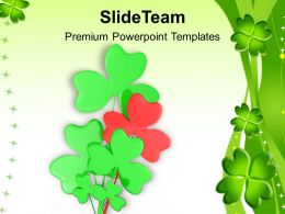 Happy St Patricks Day Shamrock Symbol Saint Celebration Templates Ppt Backgrounds For Slides