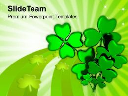 Happy St Patricks Day Shamrock With Message Templates Ppt Backgrounds For Slides