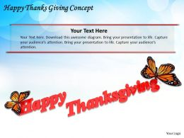 Happy Thanks Giving Concept Ppt Graphics Icons Powerpoint
