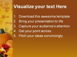 Happy Thanks Giving Holidays PowerPoint Template 1010  Presentation Themes and Graphics Slide02