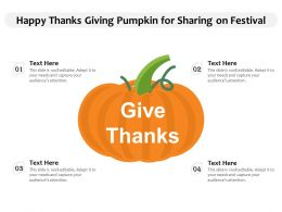 Happy Thanks Giving Pumpkin For Sharing On Festival