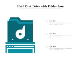 Hard Disk Drive With Folder Icon