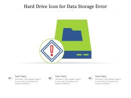 Hard Drive Icon For Data Storage Error