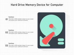Hard Drive Memory Device For Computer