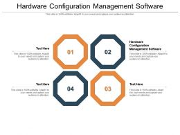 Hardware Configuration Management Software Ppt Powerpoint Presentation Outline Template Cpb