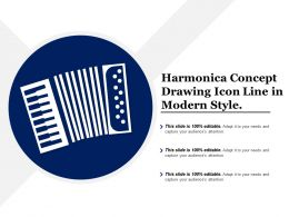 Harmonica Concept Drawing Icon Line In Modern Style