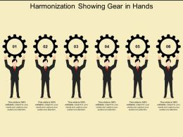 Harmonization Showing Gear In Hands