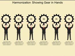Harmonization Showing Gear In Hands