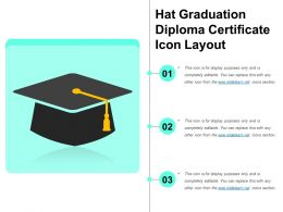 Hat Graduation Diploma Certificate Icon Layout
