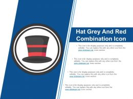 Hat Grey And Red Combination Icon