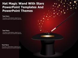 Hat Magic Wand With Stars Powerpoint Templates And Powerpoint Themes