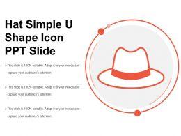 Hat Simple U Shape Icon Ppt Slide