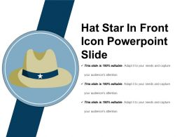 Hat Star In Front Icon Powerpoint Slide