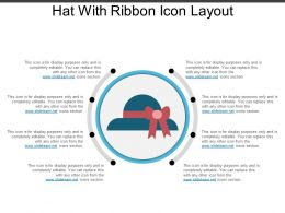 Hat With Ribbon Icon Layout