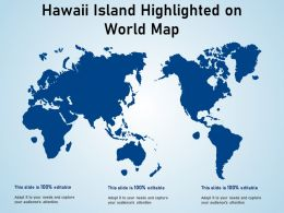 Hawaii Island Highlighted On World Map