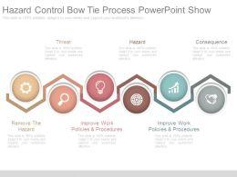 Hazard Control Bow Tie Process Powerpoint Show