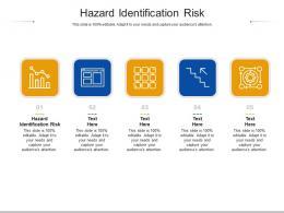 Hazard Identification Risk Ppt Powerpoint Presentation Icon Summary Cpb