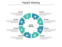 Hazard Warning Ppt Powerpoint Presentation Ideas Infographic Template Cpb