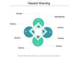 Hazard Warning Ppt Powerpoint Presentation Professional Master Slide Cpb