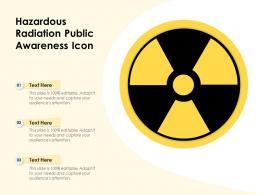 Hazardous Radiation Public Awareness Icon