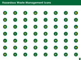 Hazardous Waste Management Icons Ppt Introduction