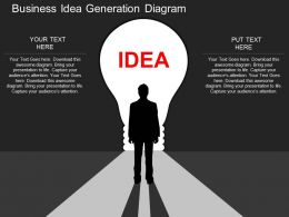 hb Business Idea Generation Diagram Flat Powerpoint Design