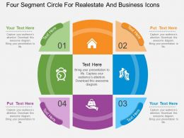 hb Four Segment Circle For Realestate And Business Icons Flat Powerpoint Design