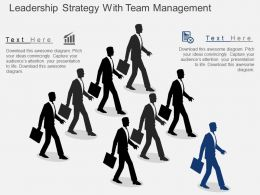 Hb Leadership Strategy With Team Management Flat Powerpoint Design