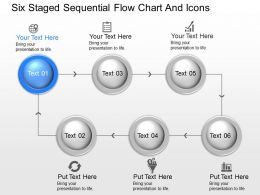 hb Six Staged Sequential Flow Chart And Icons Powerpoint Template
