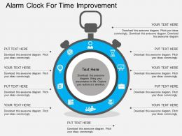 Hc Alarm Clock For Time Improvement Flat Powerpoint Design