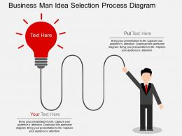 hc Business Man Idea Selection Process Diagram Flat Powerpoint Design