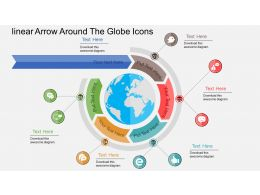 Hc Linear Arrow Around The Globe Icons Flat Powerpoint Design
