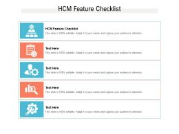 HCM Feature Checklist Ppt Powerpoint Presentation Pictures Designs Download Cpb