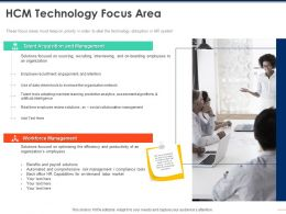 HCM Technology Focus Area Talent Ppt Powerpoint Presentation File Maker