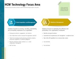 HCM Technology Focus Area Tools Ppt Powerpoint Presentation Pictures Summary