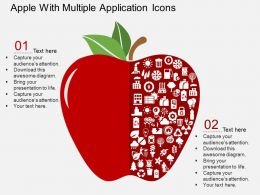 Hd Apple With Multiple Application Icons Flat Powerpoint Design